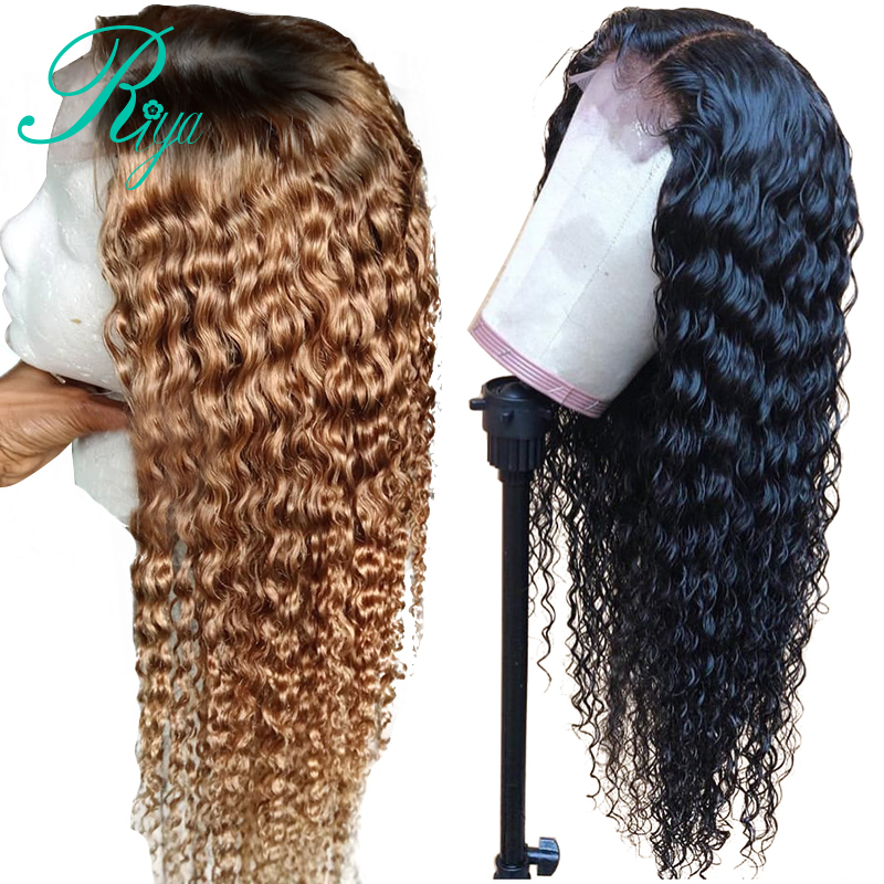 13x6 Lace Front Curly Human Hair Wig With Baby Hair Pre-Plucked Brazilian Remy Lace Frontal Wig For Black Woman #27 Color