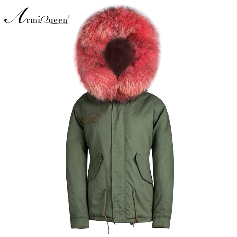 2015 men jacket fur jacket cotton shell army green color with hooded from fur jacket coat manufacturer