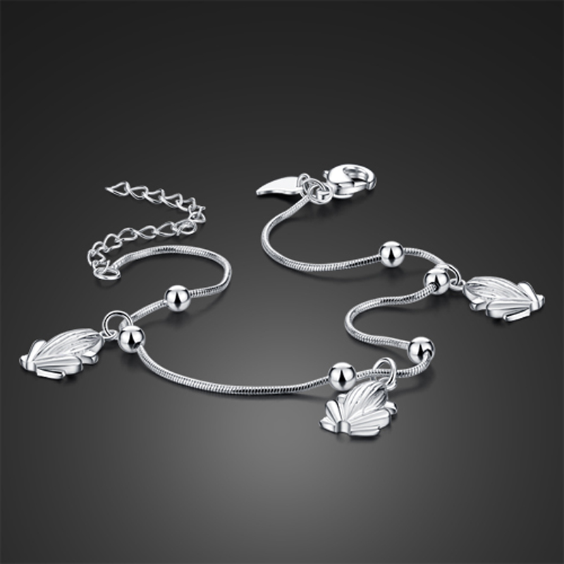 Hot sale!!! 925 pure silver Anklets;Korean version of the matte bead fine Anklets;Solid design;Acceptable wholesale;