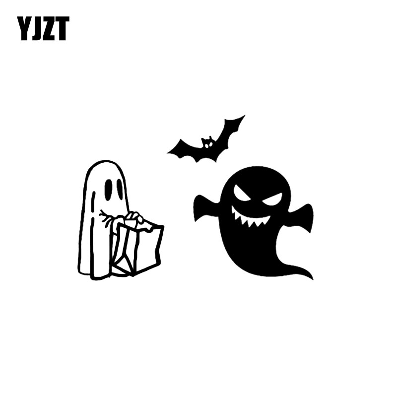 Intellective Yjzt 14.6*10.3cm Lovely Halloween Spooky Decor Car Stickers Vinyl High Quality Personalized Graphic C12-0952 Firm In Structure Automobiles & Motorcycles