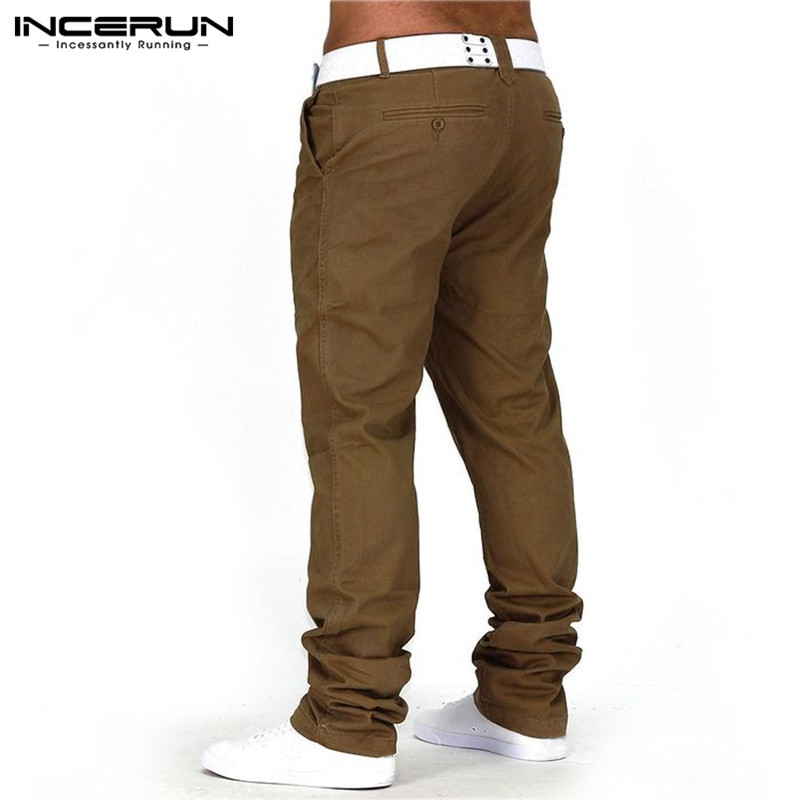 High Street Men Chinos Pants Cotton Solid Trousers Harem Hiphop Straight Pockets Joggers Sweatpants Loose Fitness Plus Size 40