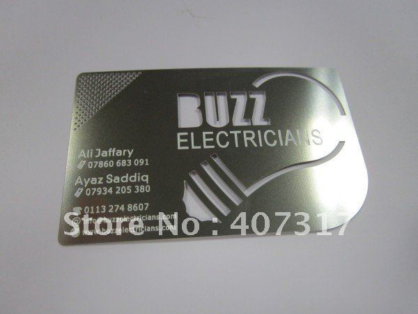 laser cut stainless steel card
