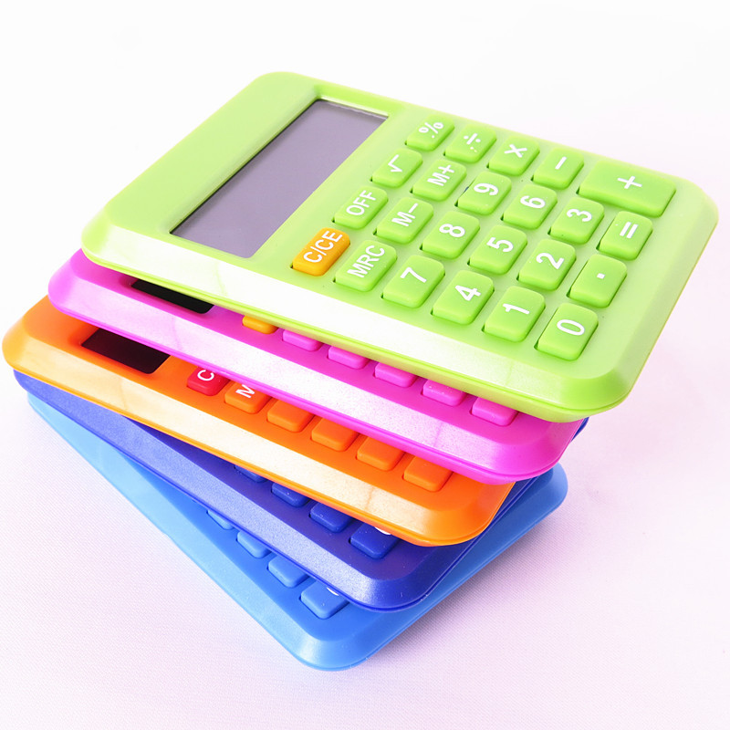 2016 New Student Mini Electronic Calculator Candy Color Calculating Office Supplies Gift