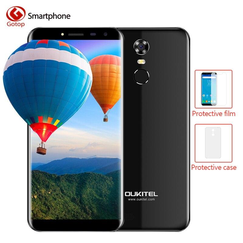 Oukitel C8 MTK6580A Quad Core Smartphone Android 7.0 18:9 Infinity Affichage Mobile Téléphone 2 gb RAM 16 gb ROM D'empreintes Digitales cellulaire Téléphone