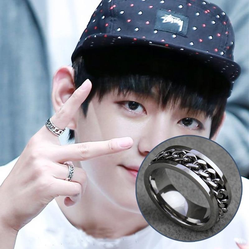 9581a7024b3d5 Youpop Kpop BTS a. r. m. Y bangtan Niños anillo plata 2016 k-pop nueva moda  joyería para hombres y mujeres