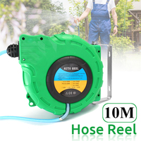 Garden Hoses Reel Garden Pipe Storage Cart Winding Tool Rack Portable Include PVC Pipe 32ft