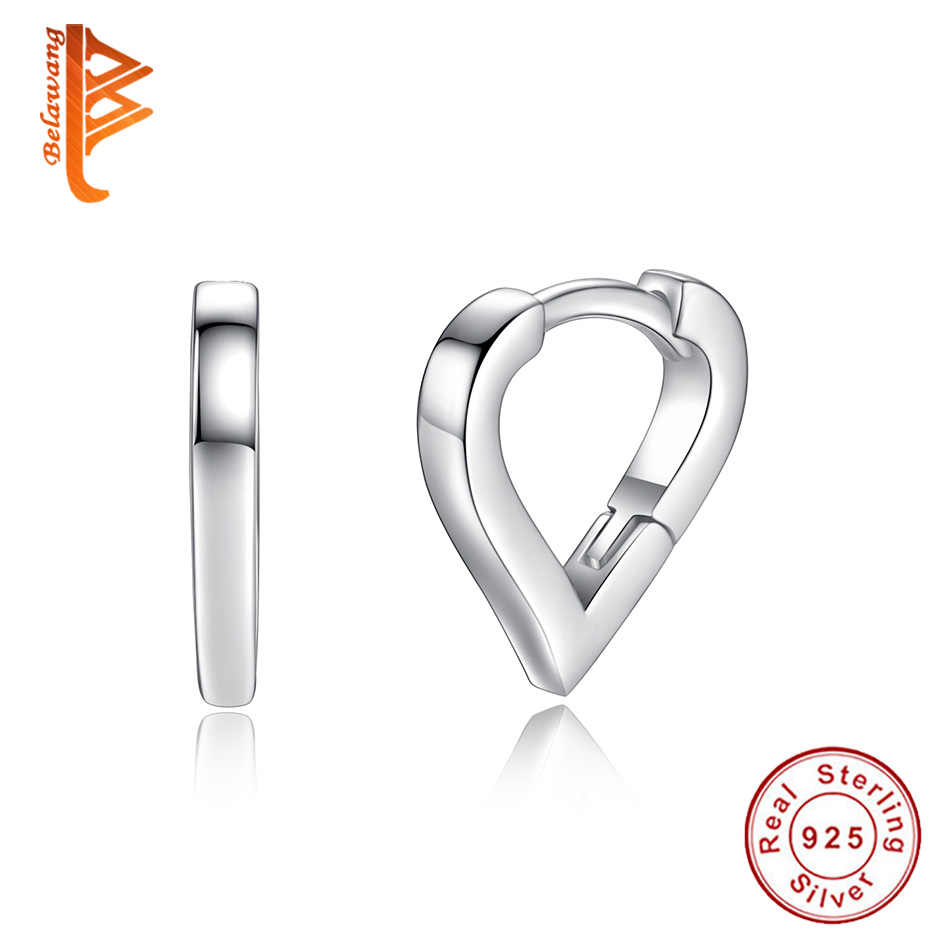 2cfe84a7a4 Authentic 925 Sterling Silver Small Hollow Heart Hoop Earrings for Children  Kids 2018 Fashion Jewelry Simple