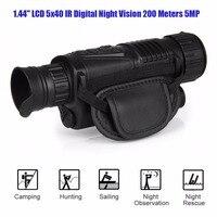 1.44 LCD Infrared Night Vision IR Scope Digital Monocular 5x40 Zoom Take Photos/Videos + Inner 4GB SD Card RL29 0003