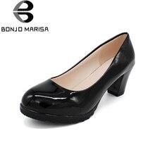 Горячая Распродажа 2017 года модный стиль классические женские туфли-лодочки для отдыха с круглым носком без шнуровки на среднем каблуке для зрелых женщин офисные удобная обувь для прогулок пикантная обувь