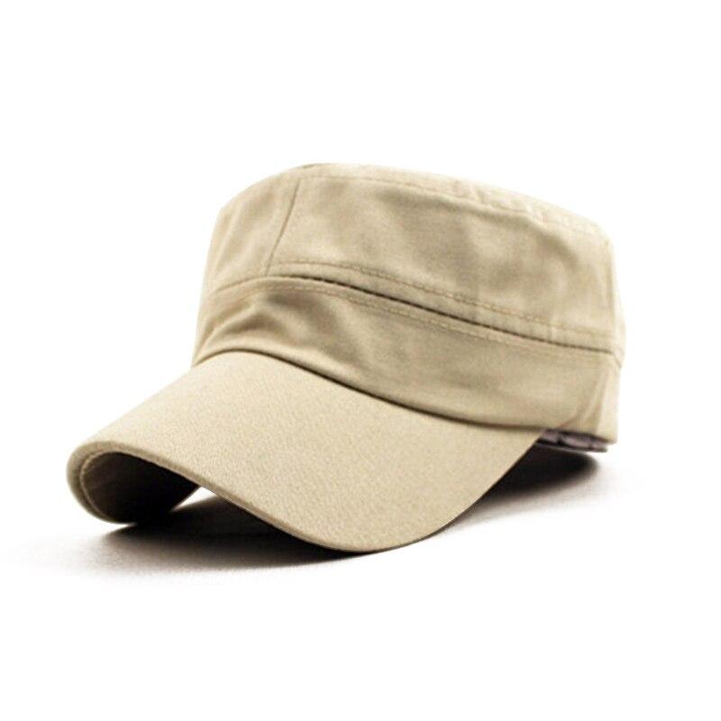 132698dcc69 MYPF-Stylish Plain Military Army Cap Castro Cadet Patrol Cap Hat Adjustable