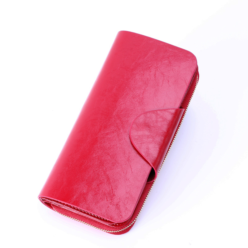 Vintage Genuine Leather Women Wallet Long Coin Pocket Purse Phone Wallet Female Card Holder Female Pures Lady Clutch high quality floral wallet women long design lady hasp clutch wallet genuine leather female card holder wallets coin purse
