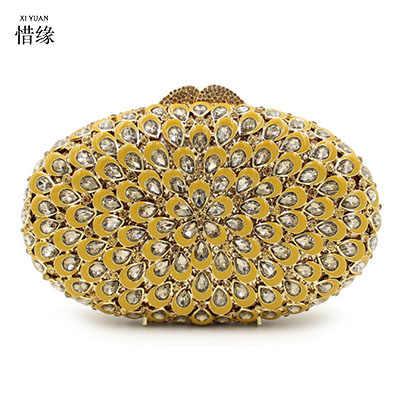 XI юаней Брендовые женские высокого класса люкс капать воском бриллиантами ужин мешок Полые Кристалл невесты Сумки партия Кошелек Свадьба мешок золота