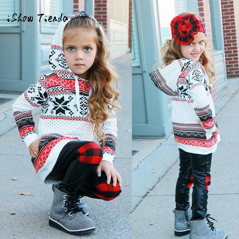 sweatshirt Girls Christmas  clothing Toddler Kids Baby Girl Cotton Stripe Hoodie Sweatshirt Pullover Tops Christmas Clothes 1