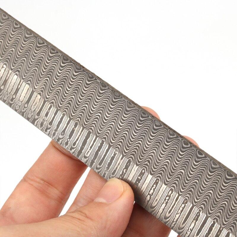1 piece DIY knife Making Damascus steel ladder Sandwich Pattern steel Knife blade blank Heat Treatment 200*30*3mm