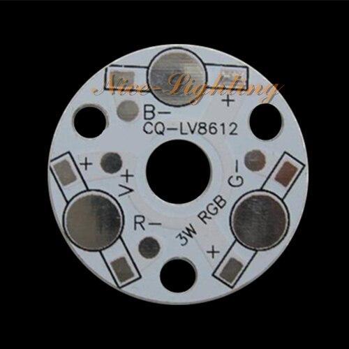 20 pcs/lot excellente qualité 3 W 32mm diamètre anodisé PCB rvb, plaque de Base en aluminium LED, panneau de dissipateur thermique à LED haute puissance