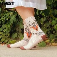Nest 1 Pairs Lot Women Wool Cartoon Socks Set Autumn Winter Keep Warm Cute Sock One