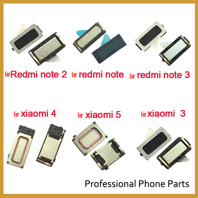 2Pcs/Lot, Original Earpiece Ear Speaker For Xiaomi Mi 3 4 Mi5 5S Plus 6 6x  Redmi Note 3  4 5 5A 6 7 Pro Repair Parts