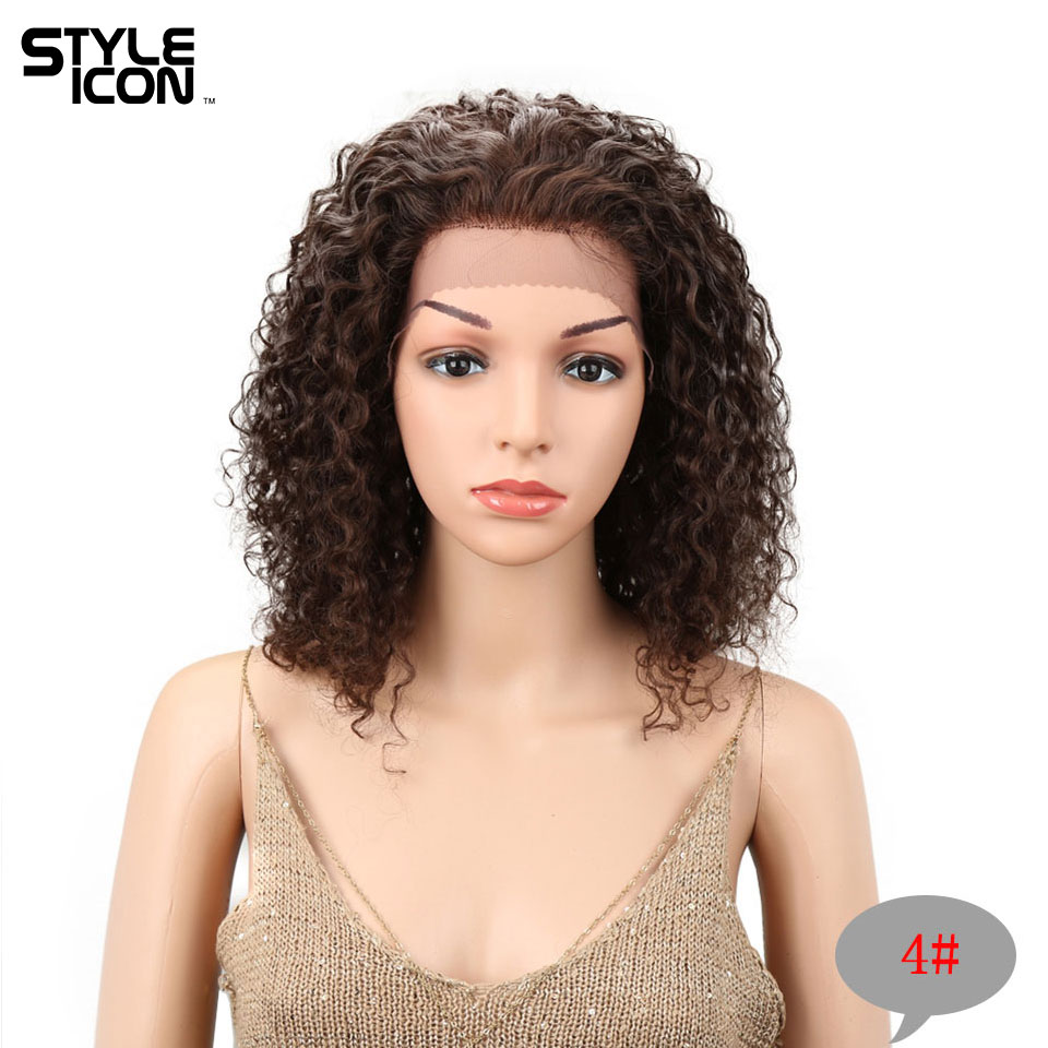 New Arrival #4 Real Wet And Wavy Human Hair Wig Brazilian Water Wave Lace Front Wig Styleicon Lace Front Human Hair Wigs