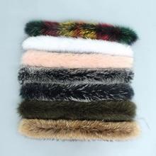 Цветная натуральная толстовка с мехом енота, отделка воротника для парки и зимнее пальто куртки с капюшоном воротник из натурального меха шарфы femme