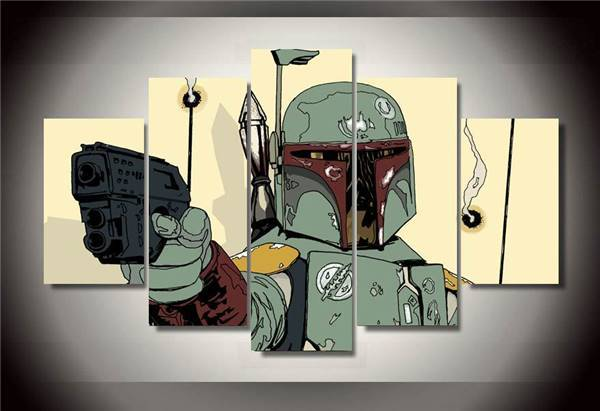 5 Pieces/set Hd Printed Star Wars Comics Canvas Picture Painting