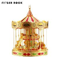 Finger Rock New Style Merry Go Round Laser Cutting 3D Metal Puzzles Educational DIY Assembly Jigsaws