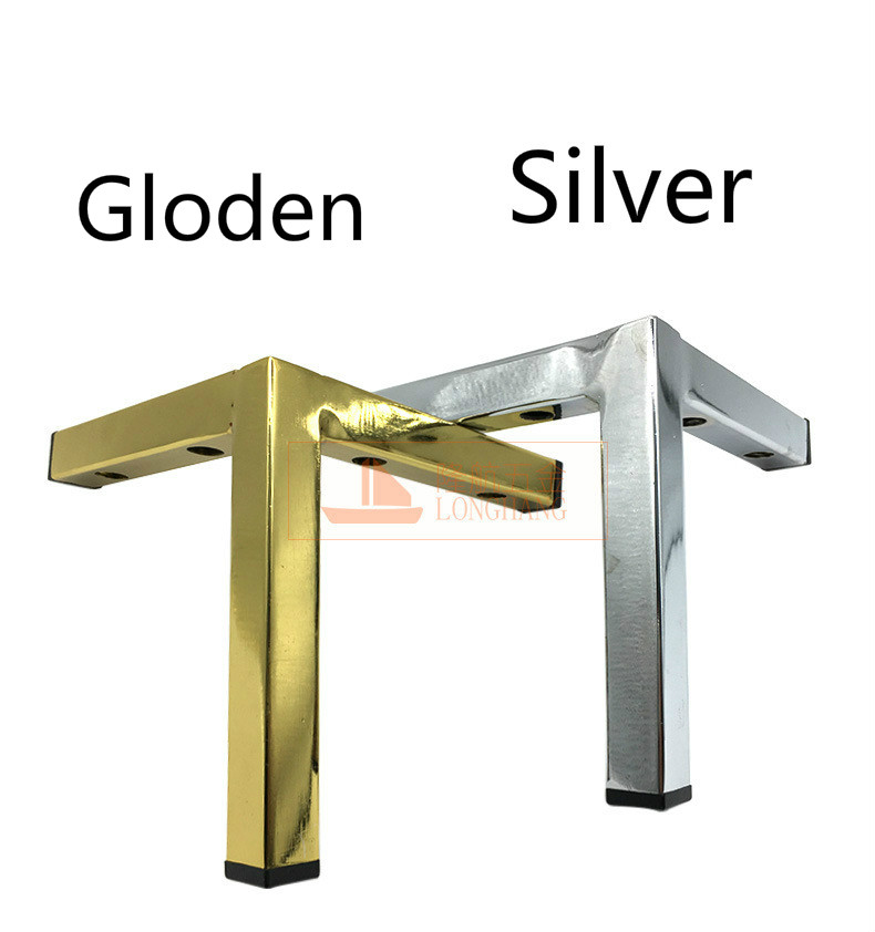Metal Furniture Legs 15cm Triangle Straight Cabinet Wood Table Legs Sofa Feet Bed Riser Furniture Accessories 1/ 2/ 4/ 6/ 8pcs image