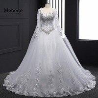 Реальный образец 2019 Новый бандажный Топ кристалл роскошное свадебное платье 2019 свадебное платье Свадебные платья с длинным рукавом DB23002