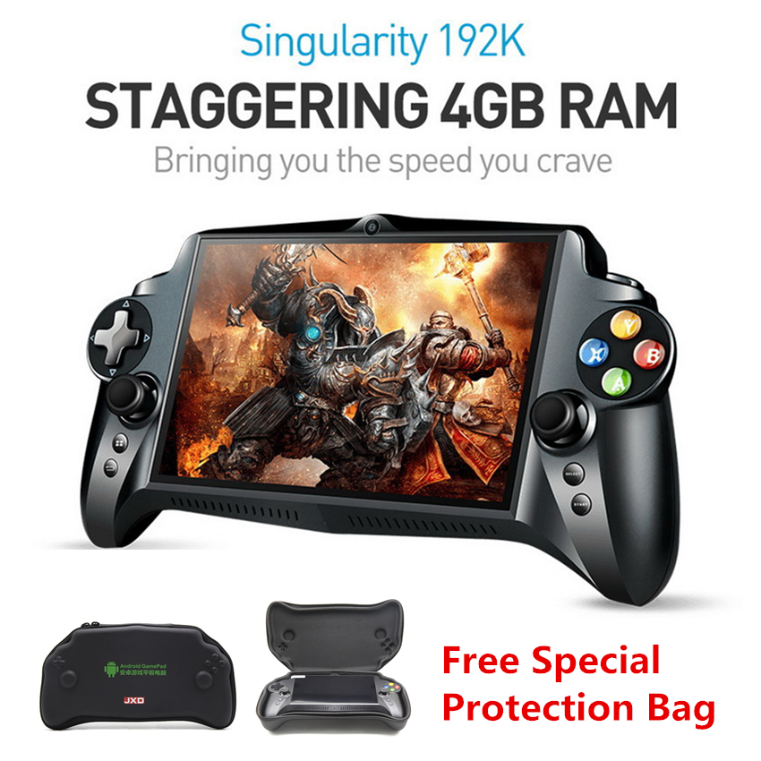 Առկա է JXD S192K 7 դյույմ 1920x1200 Quad Core 4G / 64 GB New Handheld Game Player 10000mA Android 5.1 Tablet PC Video Game Console