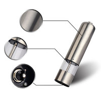 Supplies Stainless Steel Electric Salt Pepper Mill Spice Grinder Kitchen Tools