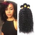 Unprocessed Brazilian Hair Weave 4 Bundles Brazilian Kinky Curly Hair Human Hair Weave 7A Brazilian Virgin Hair Kinky Curly