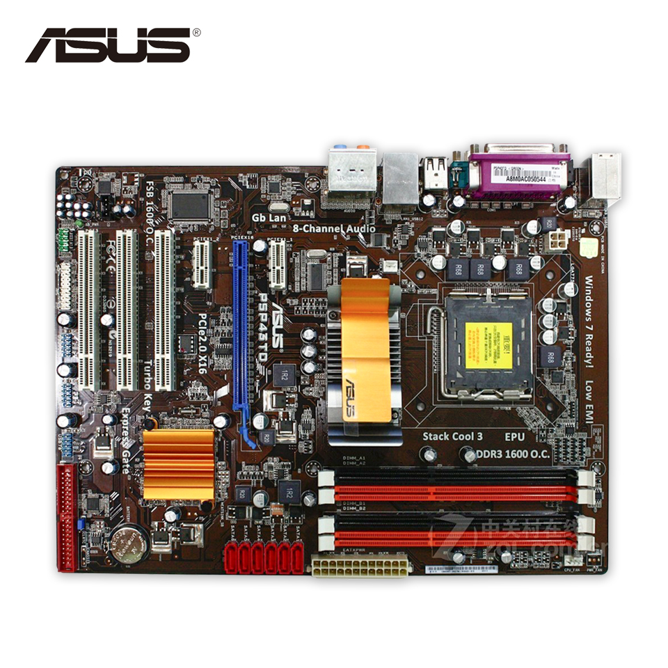Asus P5P43TD Desktop Motherboard P43 Socket LGA 775 DDR3 16G SATA3 USB2.0 ATX On Sale asus m4a88t m desktop motherboard 880g socket am3 ddr3 sata ii usb2 0 uatx