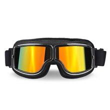 Gafas universales Retro Vintage para motocicleta, gafas para moto, Scooter, protección UV para gafas de sol de Motor de bicicleta