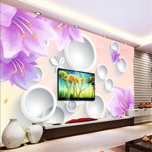 beibehang Customize size High Quickly HD mural 3d stereoscopic wallpaper wallpaper wall paper lily flower papel de parede