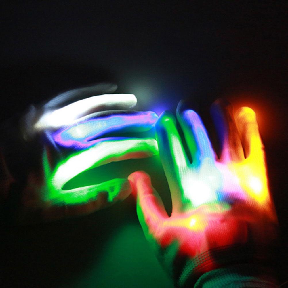 1 пара супер яркие перчатки со светодиодами для вечерние диско DJ для праздника фестиваль светодиодные перчатки светящиеся легкие перчатки Забавный дом
