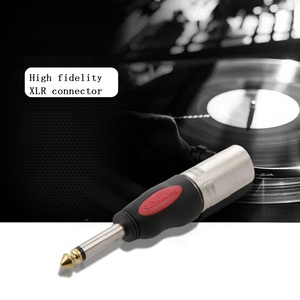 Image 4 - Gold plated 2/3 Pole 6.35mm male to 3Pin XLR female/male Audio Signal Converter Plug Mic Microphone CANNON Connector Plug