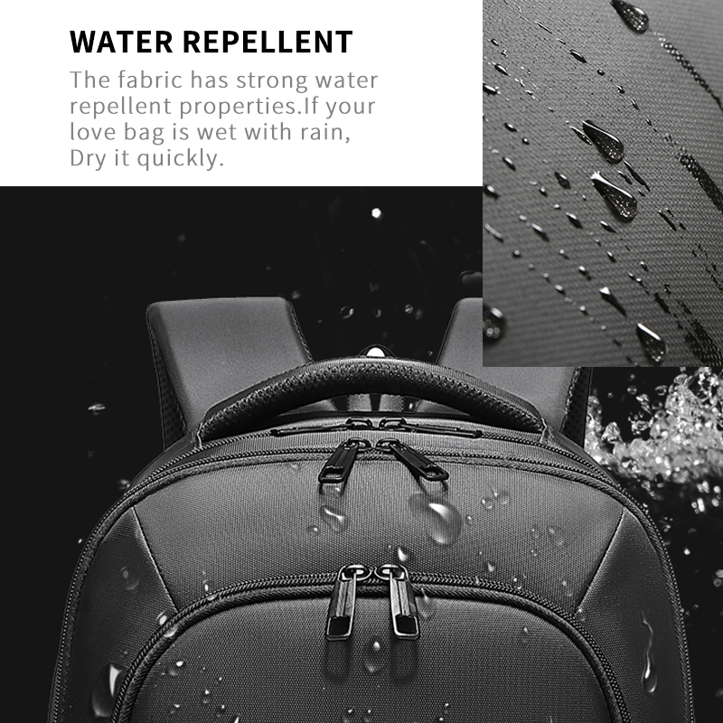 EURCOOL Men 15.6 inch Laptop Backpack USB Charging for Male Mochila Travel Bags Water Repellent Teenage Backpacks School n0001