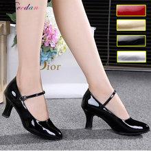 Туфли женские для бальных танцев Современные сандалии с закрытым