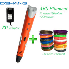 DEWANG Birthday Gift for Kids DIY 3d Magic Drawing Pen with 1.75mm Plastic 3 d Printing Pens Children Creation Development