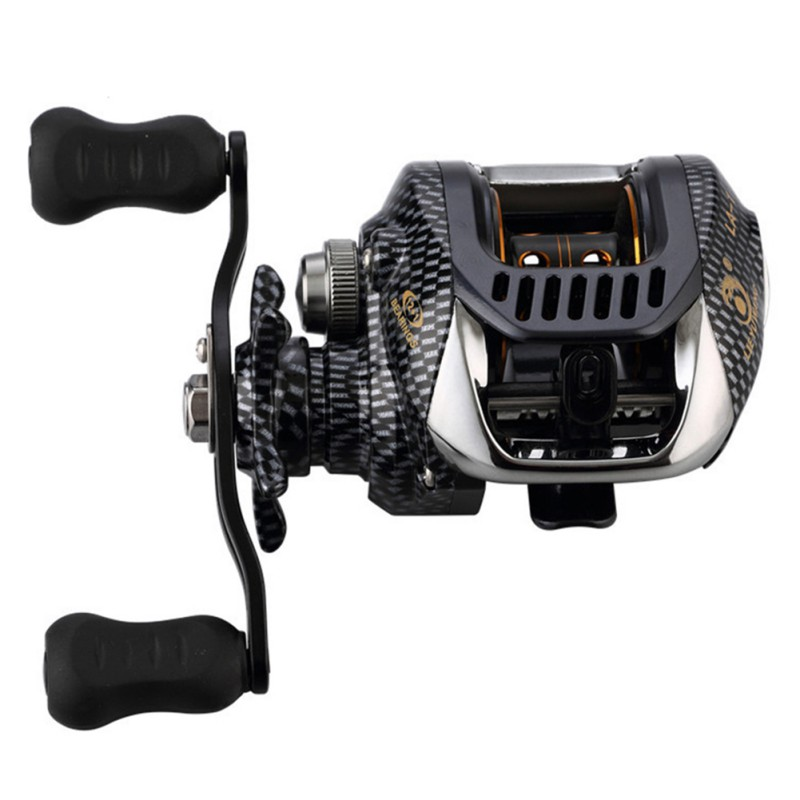 6.3:1 Baitcast Fishing Reel 13 Bearing Large Line Capacity Lightweight Left-handed Right-handed Bait Casting Fishing Wheel Tool