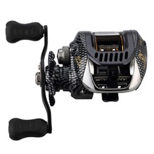 6.3:1 Baitcast moulinet de pêche 13 portant grande ligne capacité léger gaucher droitier appât coulée pêche roue outil