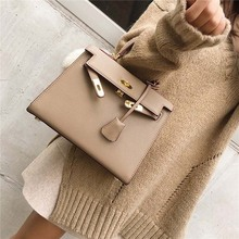 luxury handbags women bags designer 2017 Brand fashion PU leather lock bag women bag sac a main femme de marque bolsas de marca