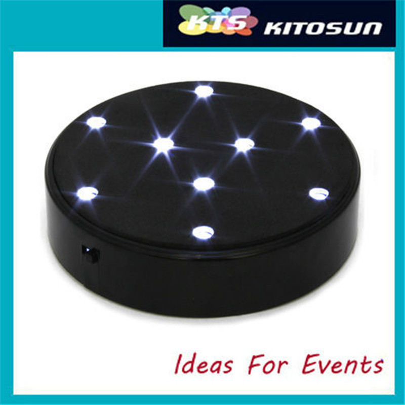 (10pieces/lot) Special Design 4inch Under Vase Led Battery Operated 9pc White LED Light Super Bright Centerpeice LED Light Base