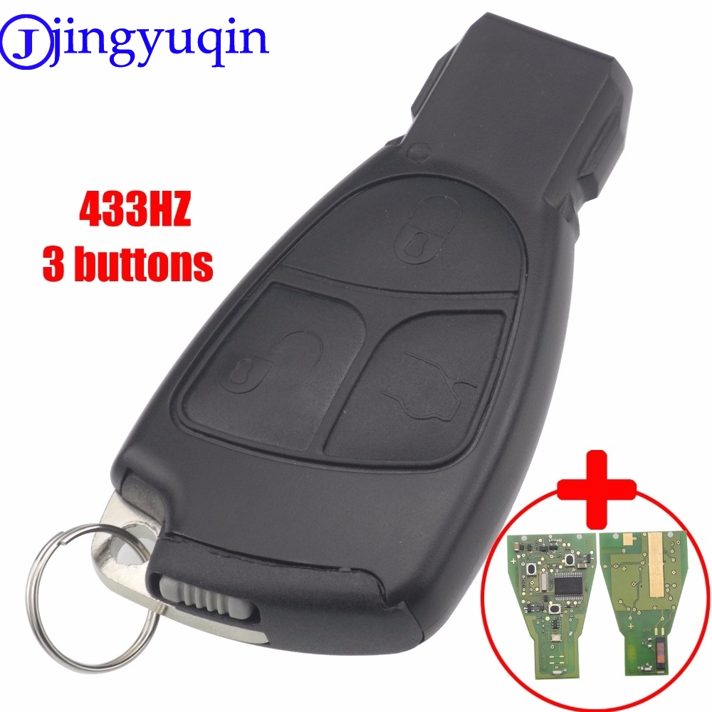 jingyuqin With Chip Circuit Board FSK 433MHZ 2/3 Button Remote Smart Key Fob Cover Shell For Mercedes Benz B C E ML S CLK CL недорого