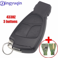 jingyuqin With Chip Circuit Board FSK 433MHZ 2/3 Button Remote Smart Key Fob Cover Shell For Mercedes Benz B C E ML S CLK CL