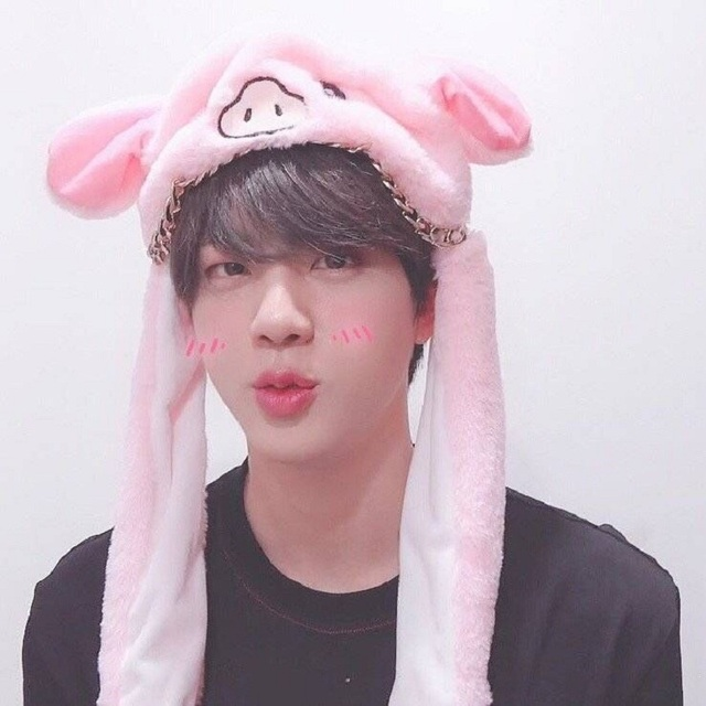 US $8 59 |KPOP BTS New Rabbit Hat Shake Move Bunny Ears Animal Thicken Warm  Hats Hoodie Kids Winter Knit Animal Beanie Cap Cute Hat-in Hoodies &