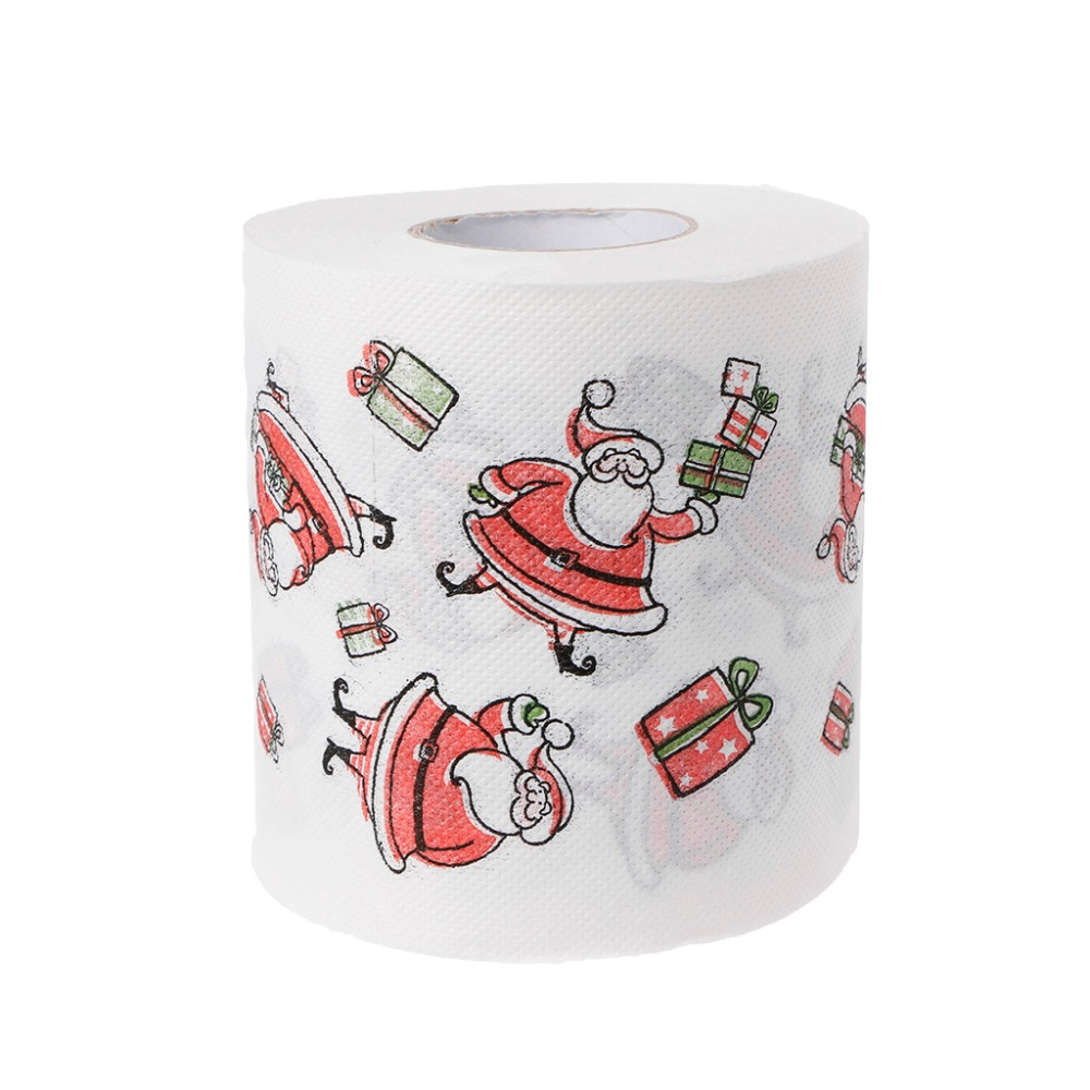 240 Leaves Christmas Cute Santa Claus Toilet Roll Paper Tissue Living Room Decor 2 Layers  #6EE300005 #