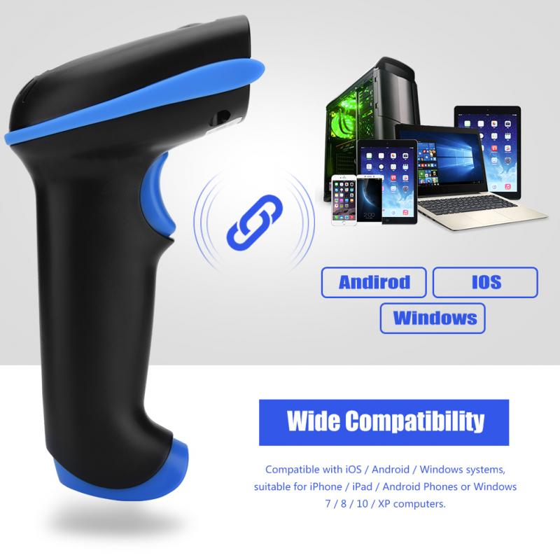US $26 38 28% OFF|Handheld Wirelress Barcode Scanner QR Bar Code Reader for  IOS Android for POS and Inventory-in Scanners from Computer & Office on