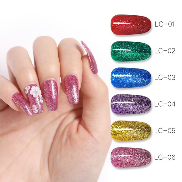 LILYCUTE 8ml Metallic Glitter Gel Nail