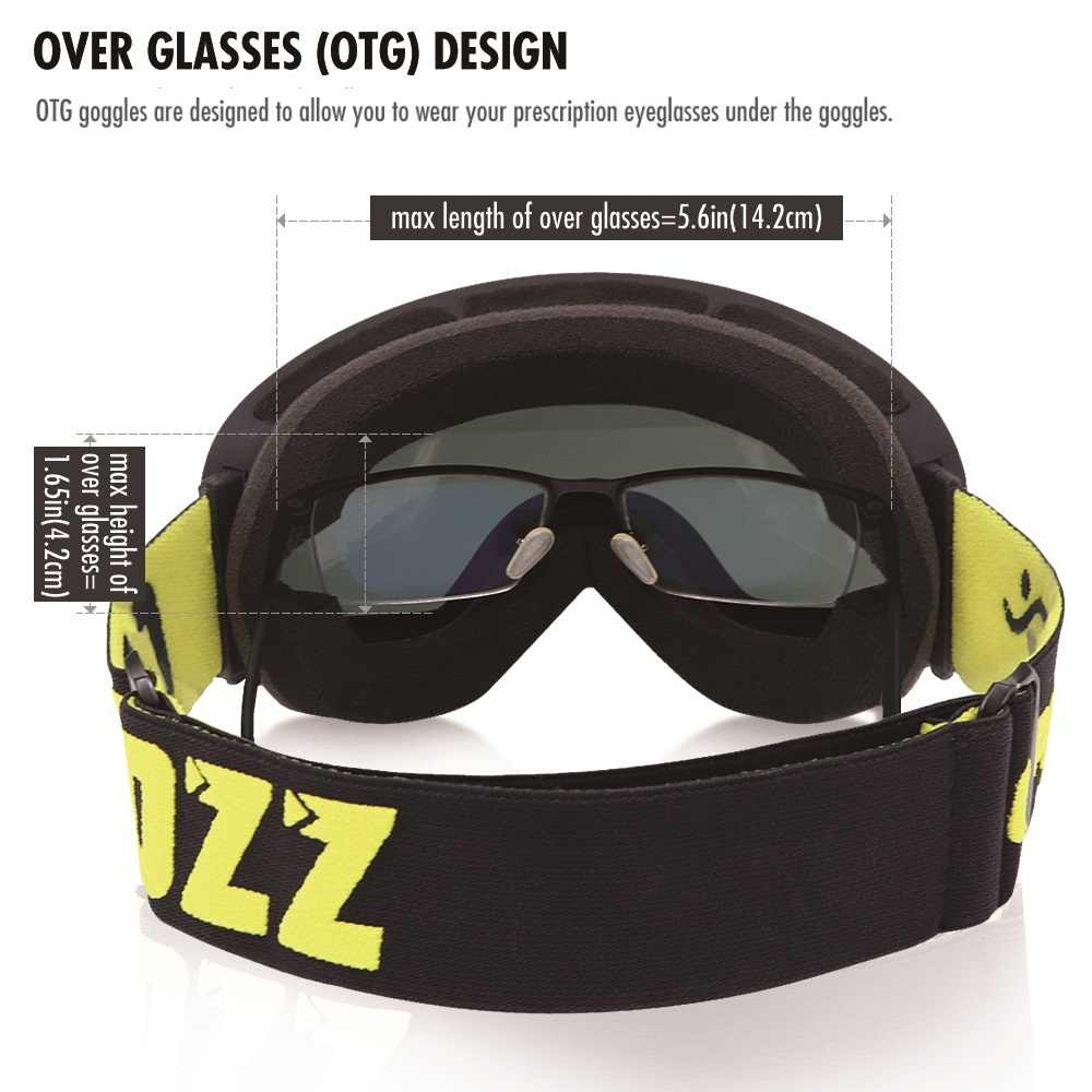 5cd9e1f3823e ... COPOZZ brand ski goggles double layers UV400 anti-fog big ski mask  glasses skiing men