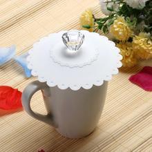 Кружевная силиконовая Алмазная Пылезащитная многоразовая силиконовая крышка для чашки DIY сплайсинга теплоизоляция кофейная чайная чашка с крышкой уплотнительная крышка
